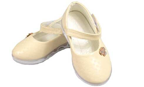 obrázek Dětské baleríny blikající smetanové vel.25