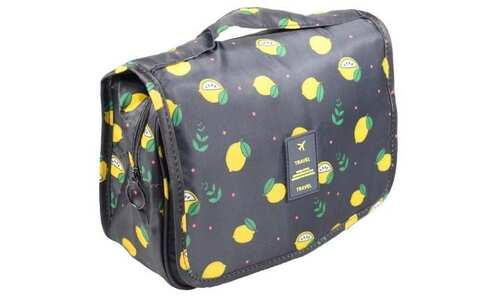 obrázok  Kozmetická taška závesná čierna s citróny