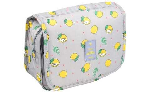 obrázok  Kozmetická taška závesná šedá s citróny
