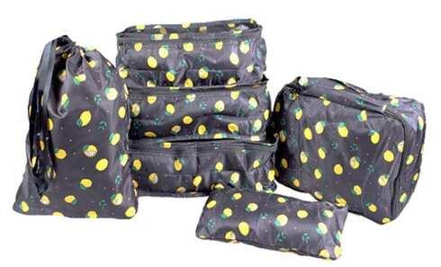 obrázek Cestovní organizér do kufru 6ks černý s citróny