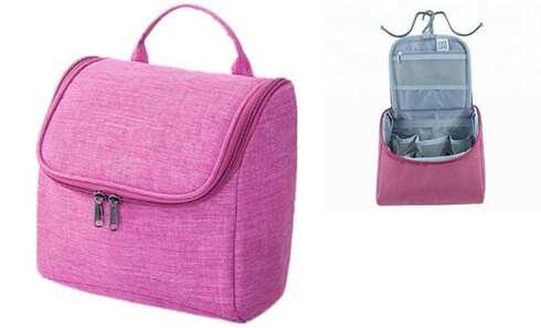 obrázek Kosmetická taška závěsná tmavě růžová