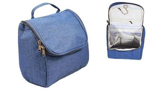 obrázok  Kozmetická taška závesná tmavo modrá