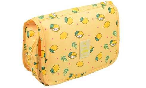 obrázek Kosmetická taška závěsná žlutá s citróny