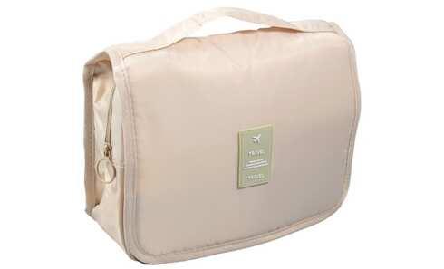 obrázek Kosmetická taška závěsná béžová