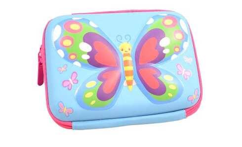 obrázek Penál 1patrový 3D motýl modrý