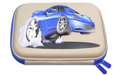 obrázek Penál šedý 1patrový 3D auto