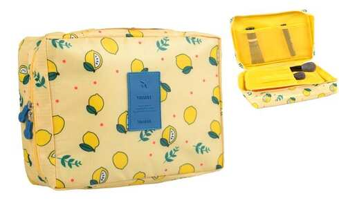 obrázok Kozmetická taška Travel žltá s citróny