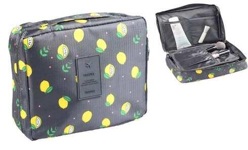 obrázek Kosmetická taška Travel černá s citróny
