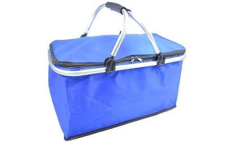 obrázek Termo skládací nákupní košík s víkem modrý