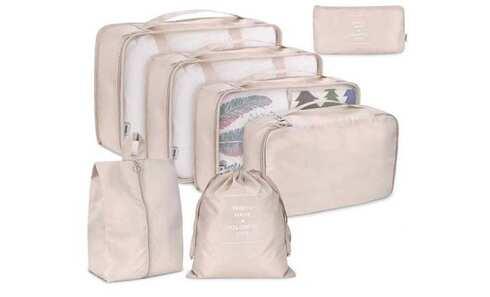 obrázek Cestovní organizér do kufru 7ks béžový