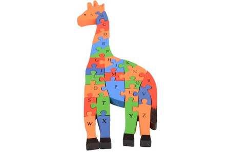 obrázek Vzdělávací dřevěné puzzle žirafa