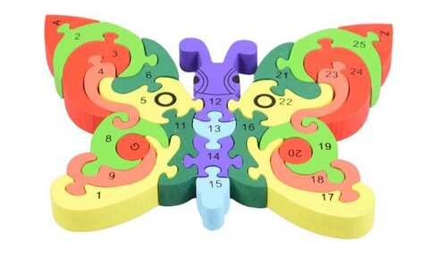 obrázok Vzdělávací drevené puzzle  motýľ