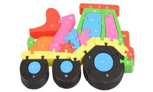 obrázek Vzdělávací dřevěné puzzle traktor