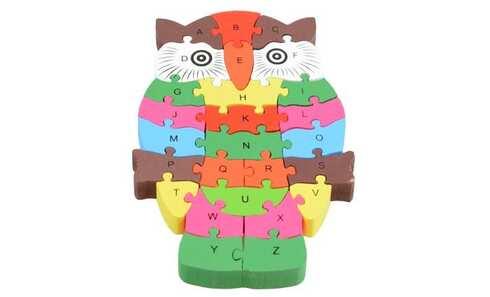 obrázek Vzdělávací dřevěné puzzle sova