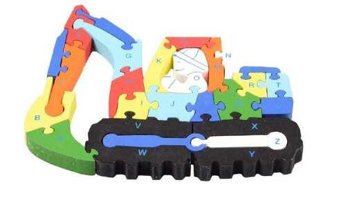 obrázek Vzdělávací dřevěné puzzle bagr