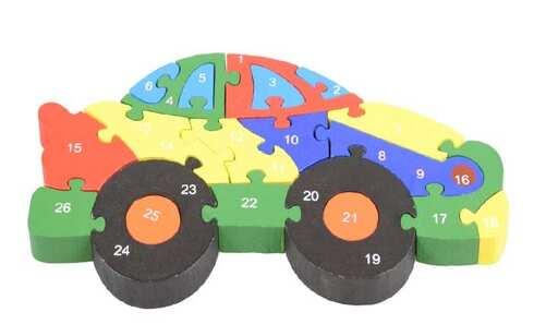 obrázek Vzdělávací dřevěné puzzle auto var.2