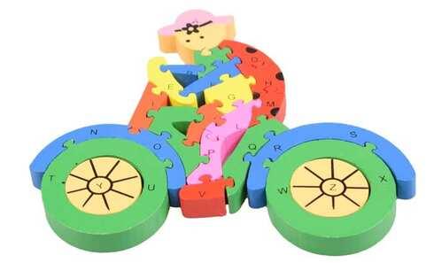 obrázek Vzdělávací dřevěné puzzle kolo