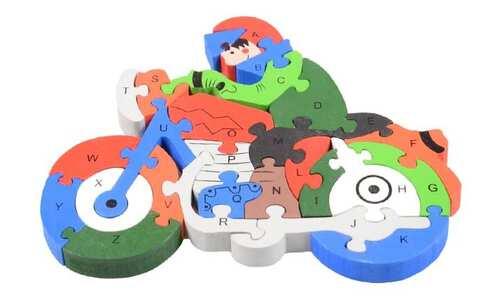 obrázek Vzdělávací dřevěné puzzle motorka