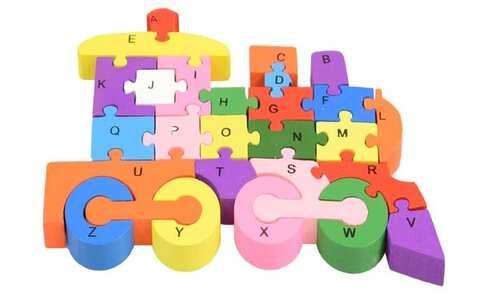obrázek Vzdělávací dřevěné puzzle vlak var.1