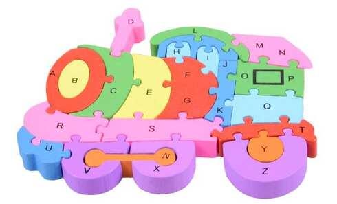 obrázek Vzdělávací dřevěné puzzle vlak var.2