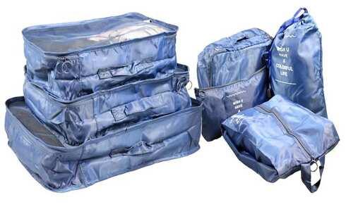 obrázek Cestovní organizér do kufru 7ks tmavě modrý