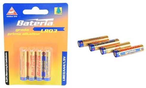 obrázek Alkalické baterie AAA LR03, 4ks
