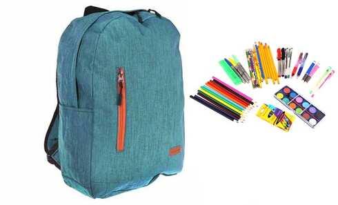 obrázek Batoh s náplní školních potřeb tyrkysový