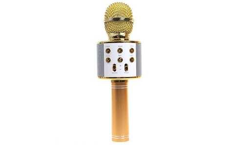 obrázok Karaoke mikrofon WS-858 zlatý