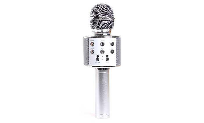Karaoke mikrofon WS-858 stříbrný