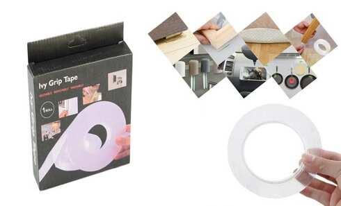 obrázok  Obojstranná umývateľná lepiaca páska