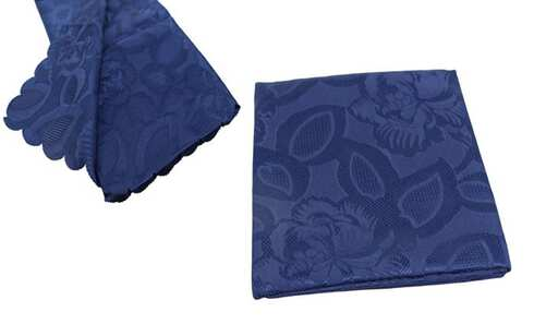 obrázek Ubrus Jacquard 80 x 80 cm modrý