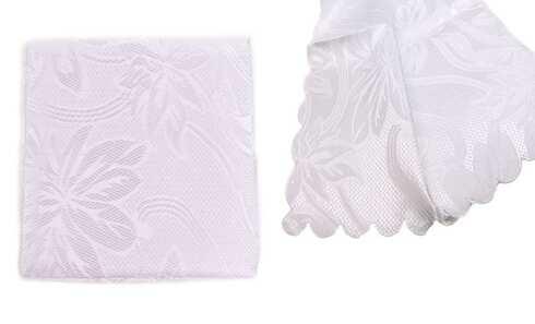 obrázek Ubrus Jacquard 80 x 80 cm bílý