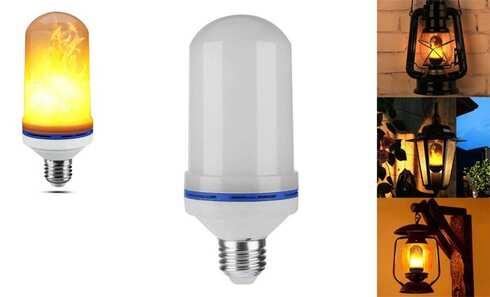obrázek LED žárovka s efektem plamenu