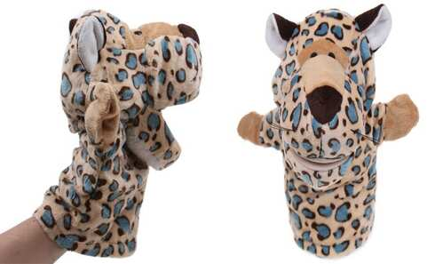 obrázok Plyšový maňuška na ruku leopard