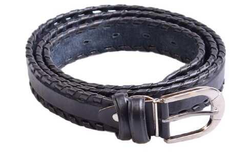 obrázek Kožený pásek černý var.2