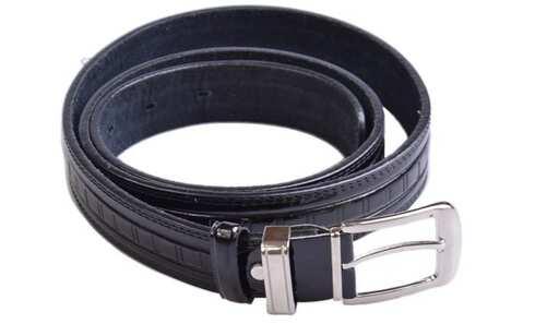 obrázek Kožený pásek černý var.3