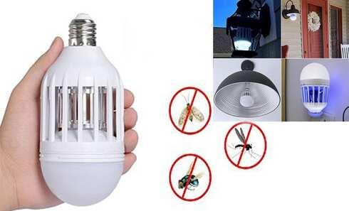 obrázok Elektrická žiarovka s lapačom hmyzu