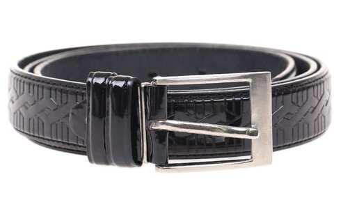 obrázek Kožený pásek černý var.5