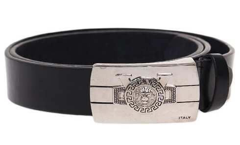 obrázek Kožený pásek černý var.6
