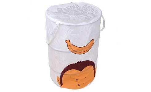 obrázek Dětský úložný box bílý opice