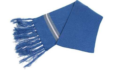 obrázek Šála modrá s třásněmi