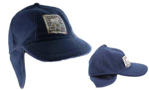 obrázok Detská čiapka modrá s nášivkou