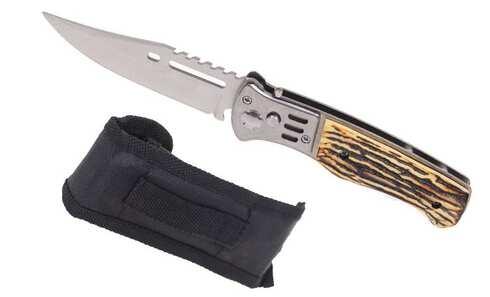 obrázek Vystřelovací nůž světlý s pouzdrem