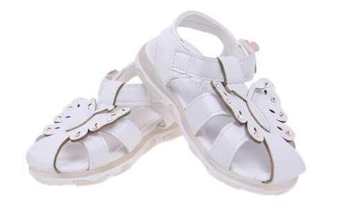 obrázok Detské sandálky blikajúce bielé vel.22
