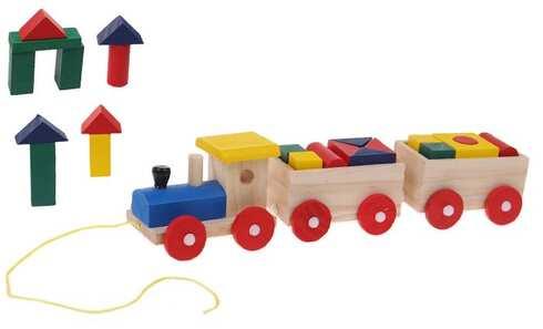 obrázek Dřevěný vlak s kostkami