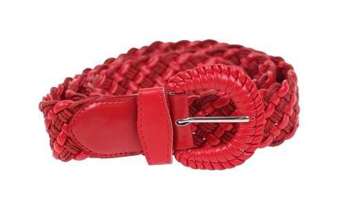 obrázek Kožený pásek červený