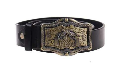 obrázek Kožený pásek černý var.20
