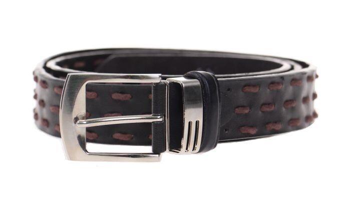 Kožený pásek černý var.23