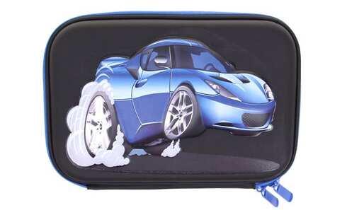 obrázek Penál černý 1patrový 3D auto