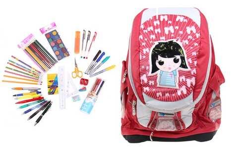 obrázek Batoh holčička s náplní školních potřeb